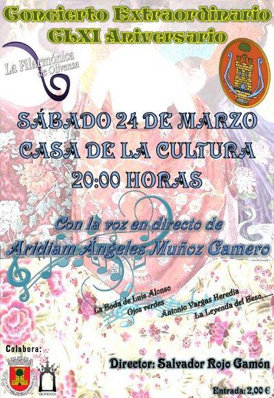 Una noche de Zarzuela y Copla conmemorará el 161 aniversario de La Filarmónica