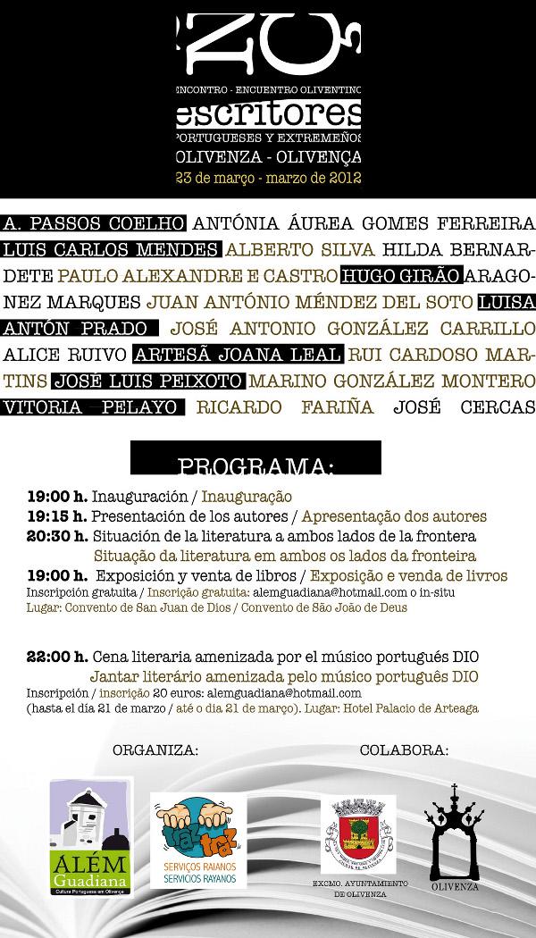 Un veintena de creadores literarios participarán en el I Encuentro de Escritores portugueses y extremeños