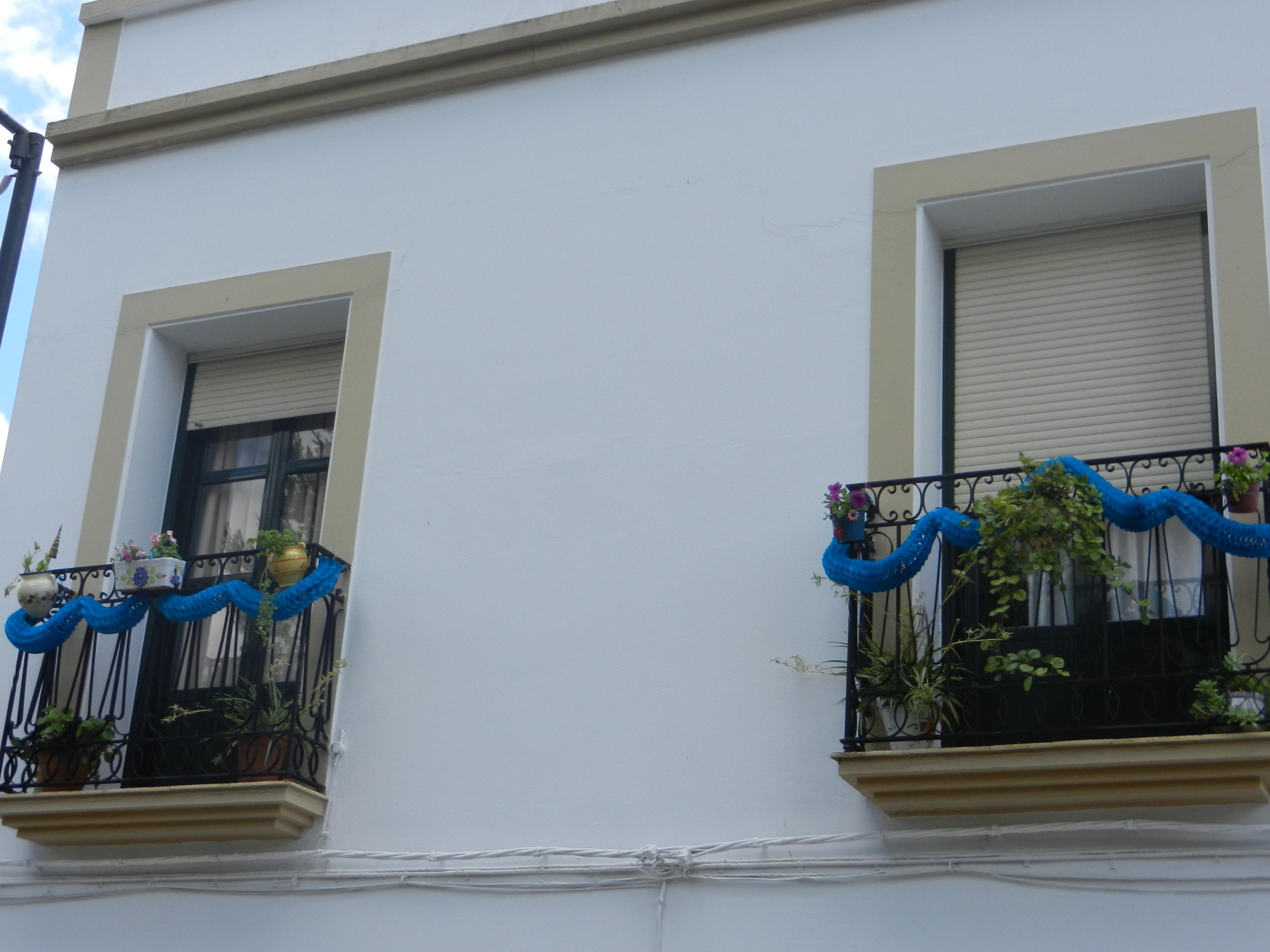Balcones participantes en el primer concurso de decoración
