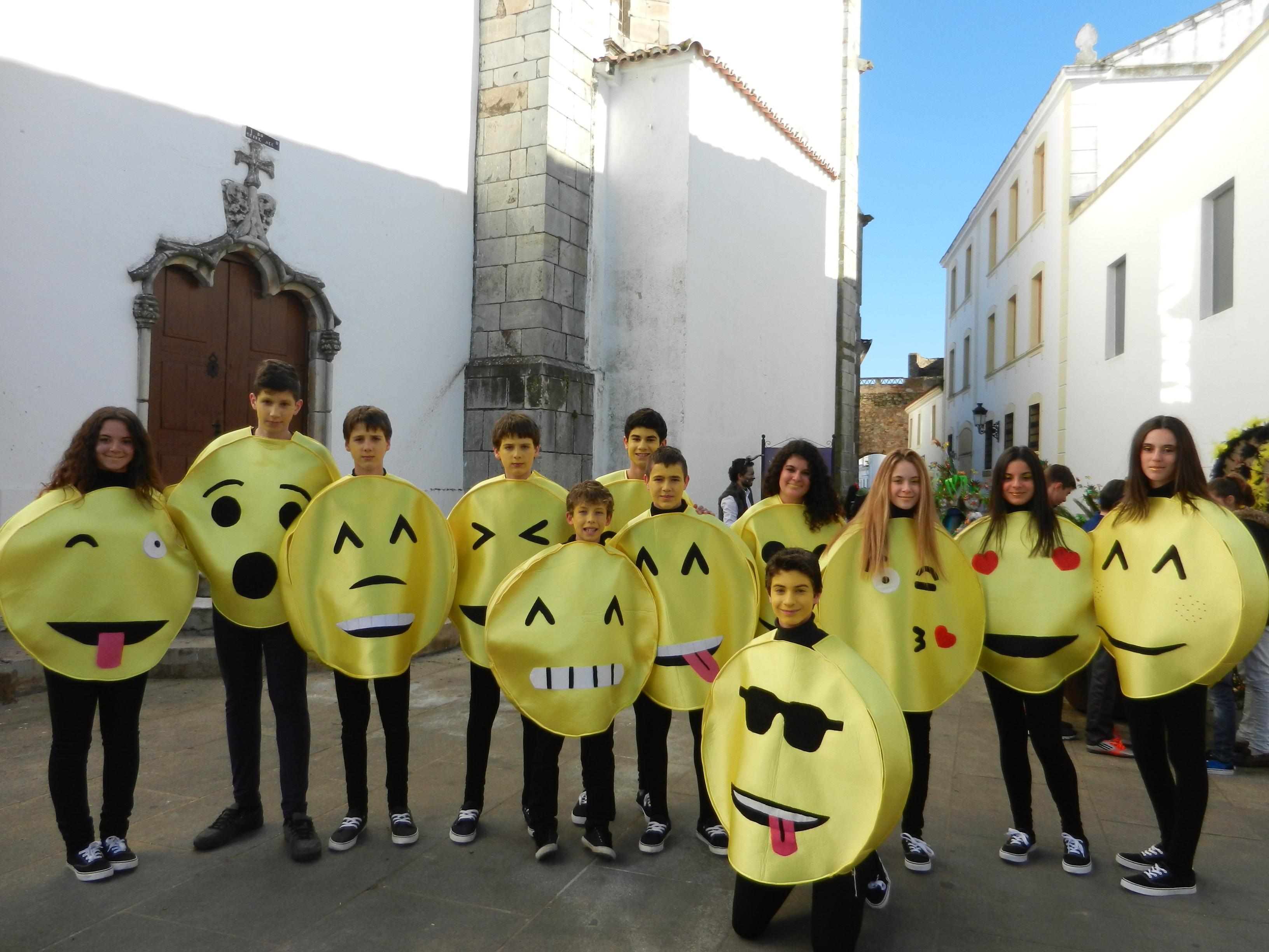 Los emoticonos salen en carnaval