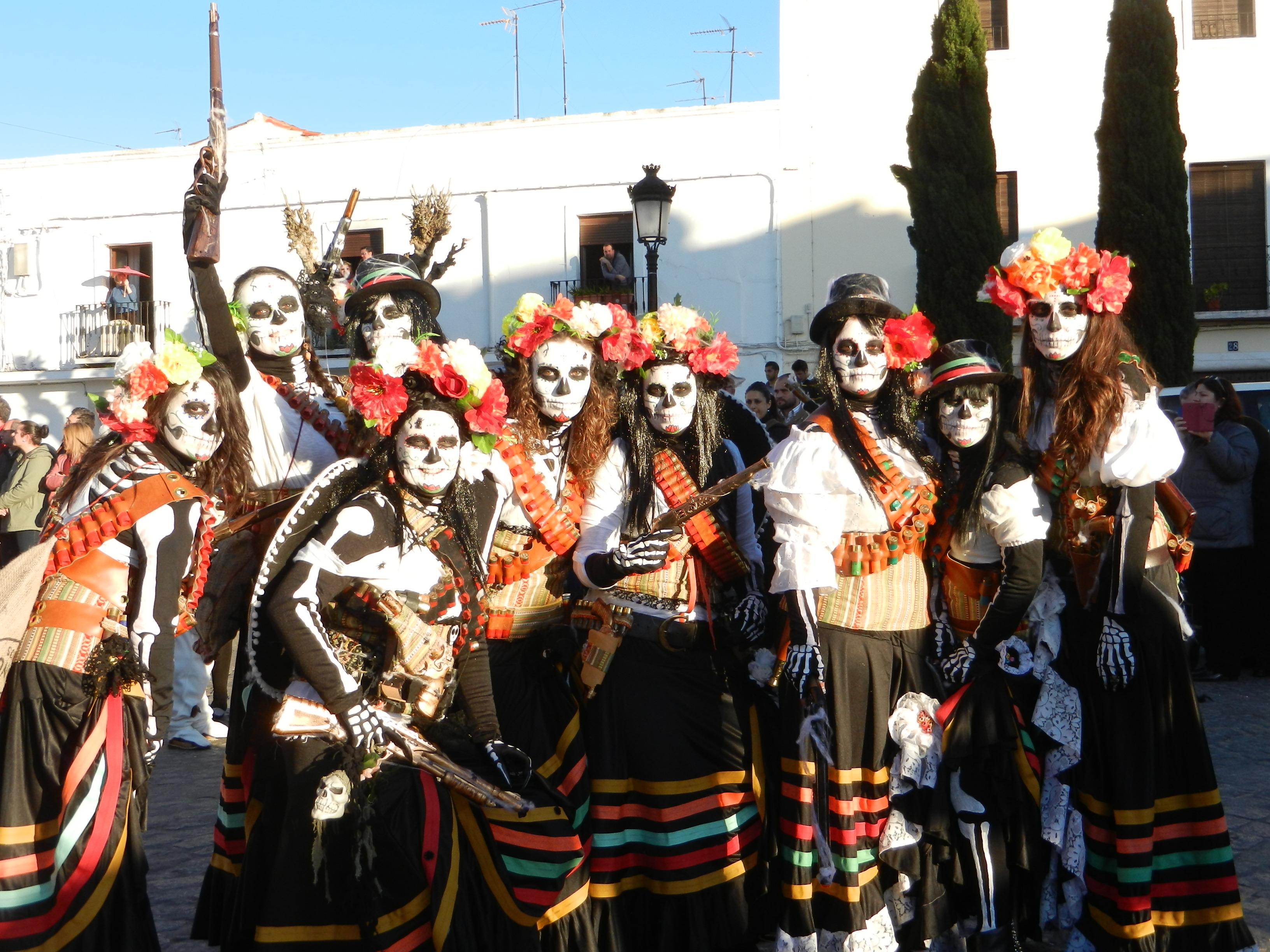 Grupo en el carnaval de Olivenza