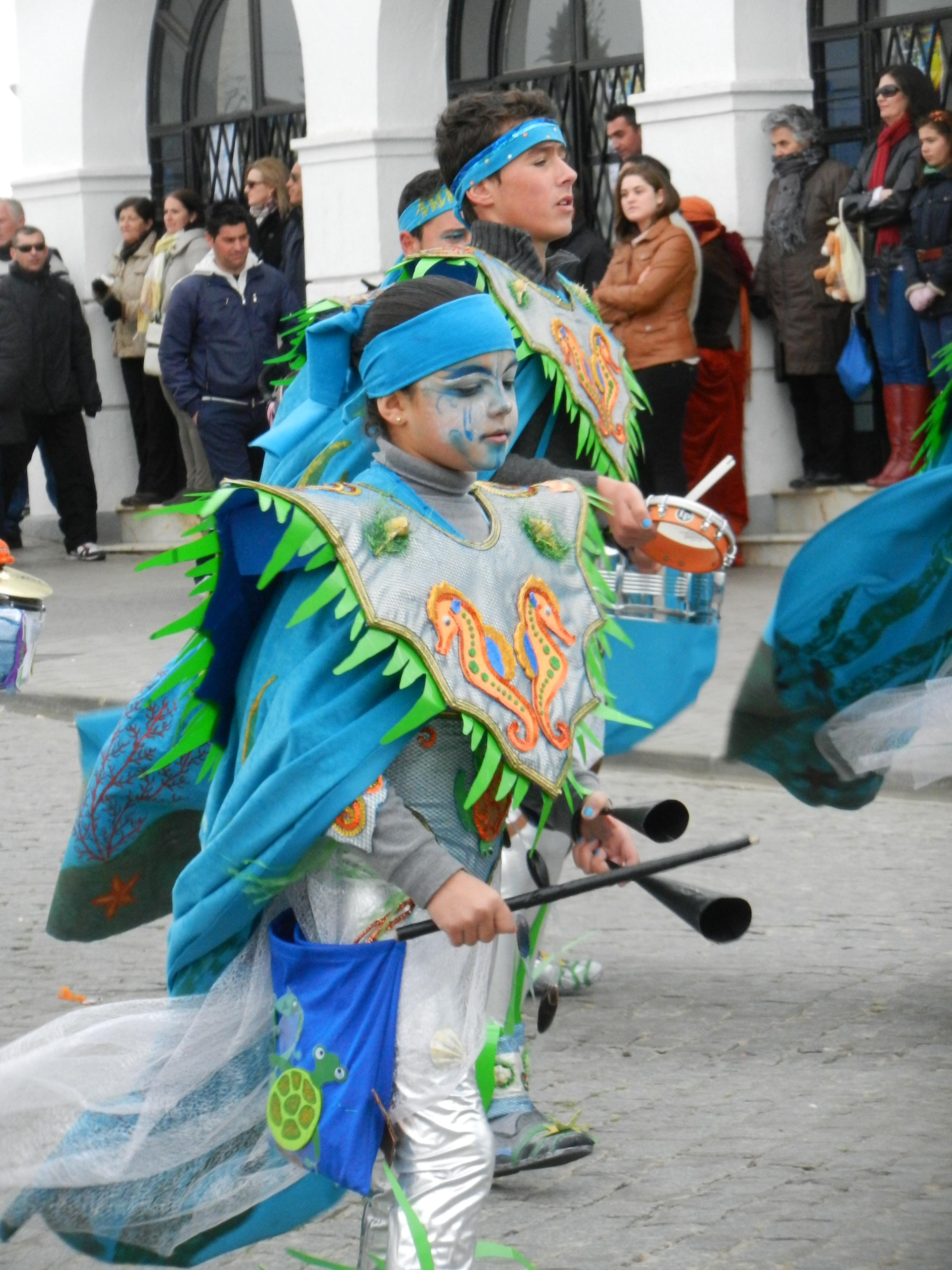 Tarakanova desfila en el carnaval de Olivenza