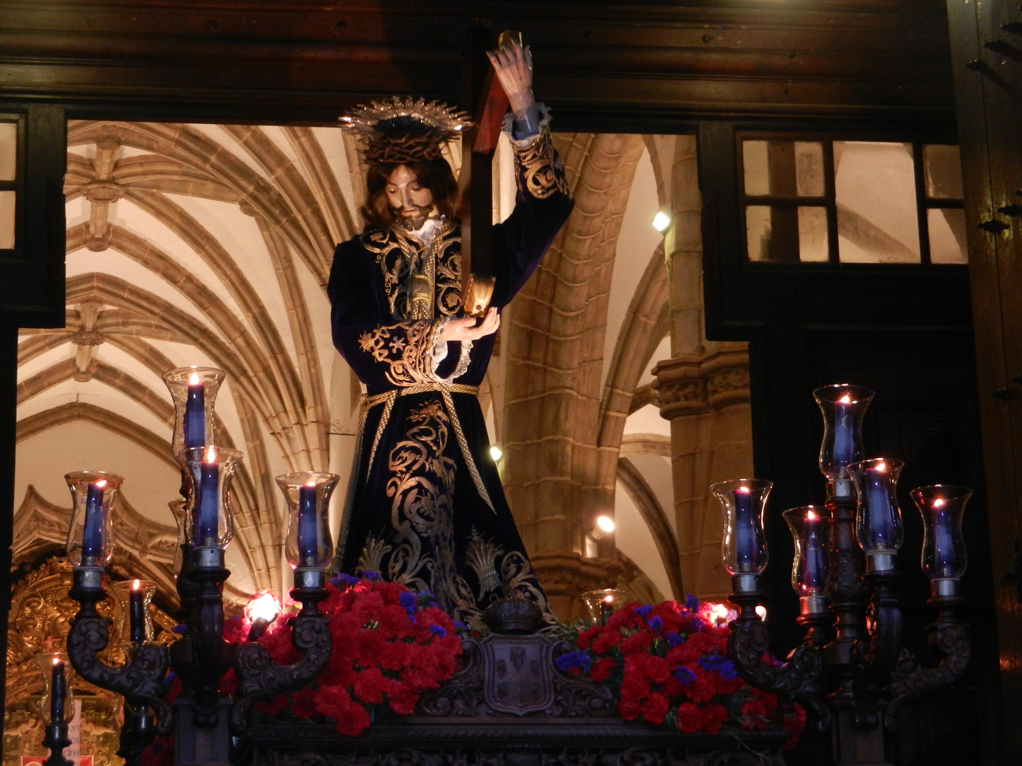 La imagen de Nuestro Señor Jesús de los Pasos se asoma a Olivenza