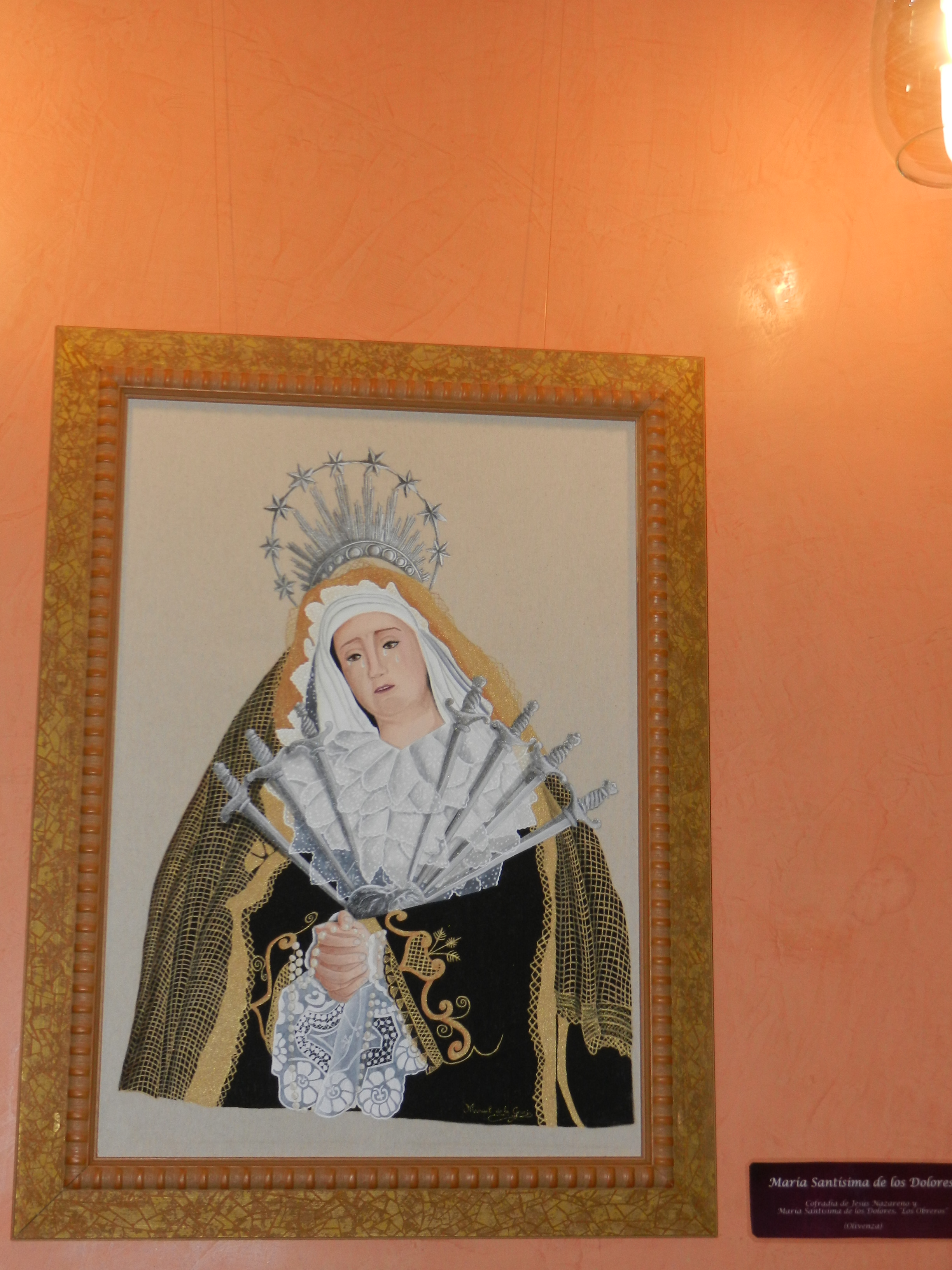 Exposición de pinturas en tela en el Liceo