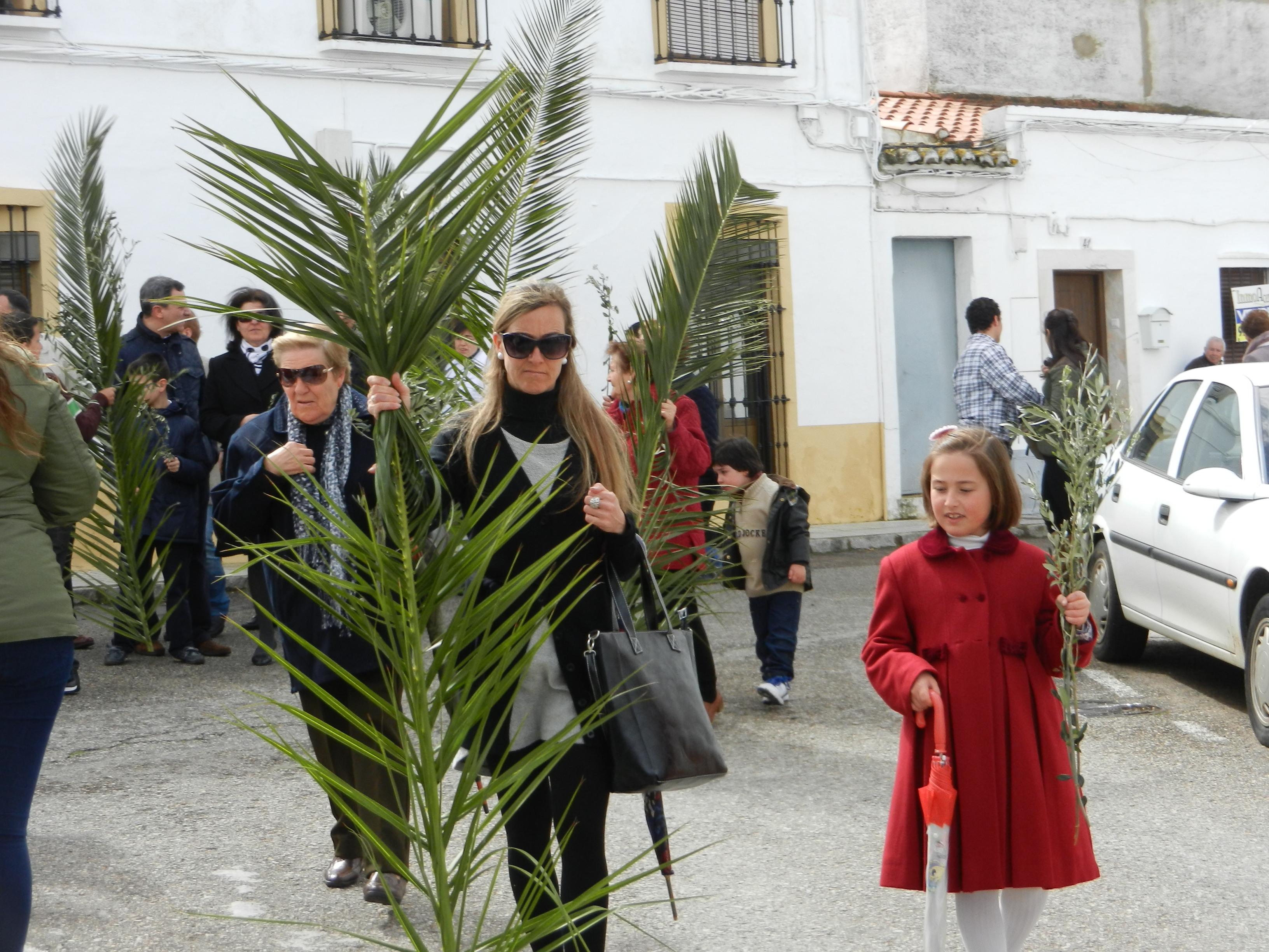 Comienza la procesión de la Borriquita
