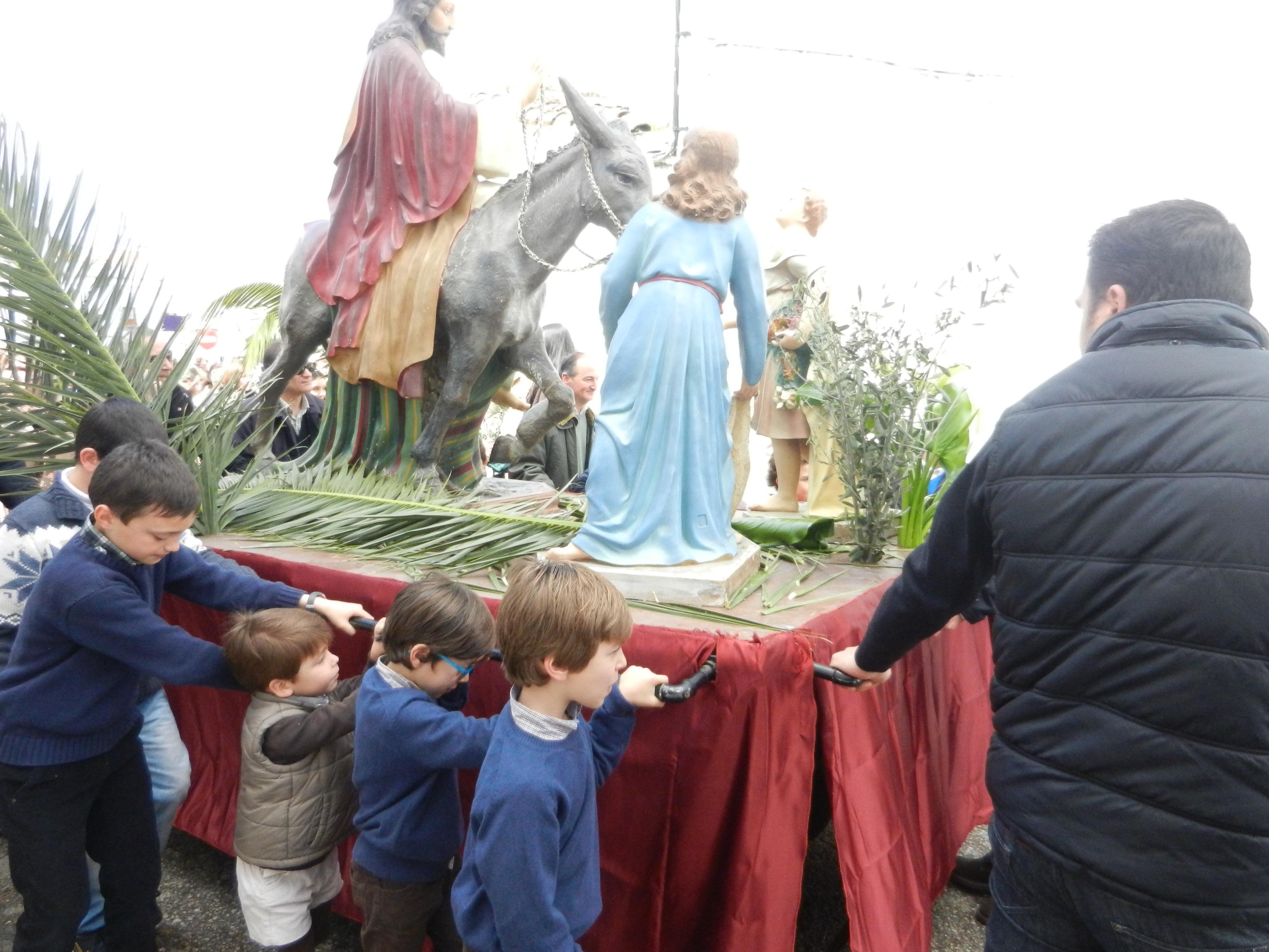 La Borriquita durante la procesión