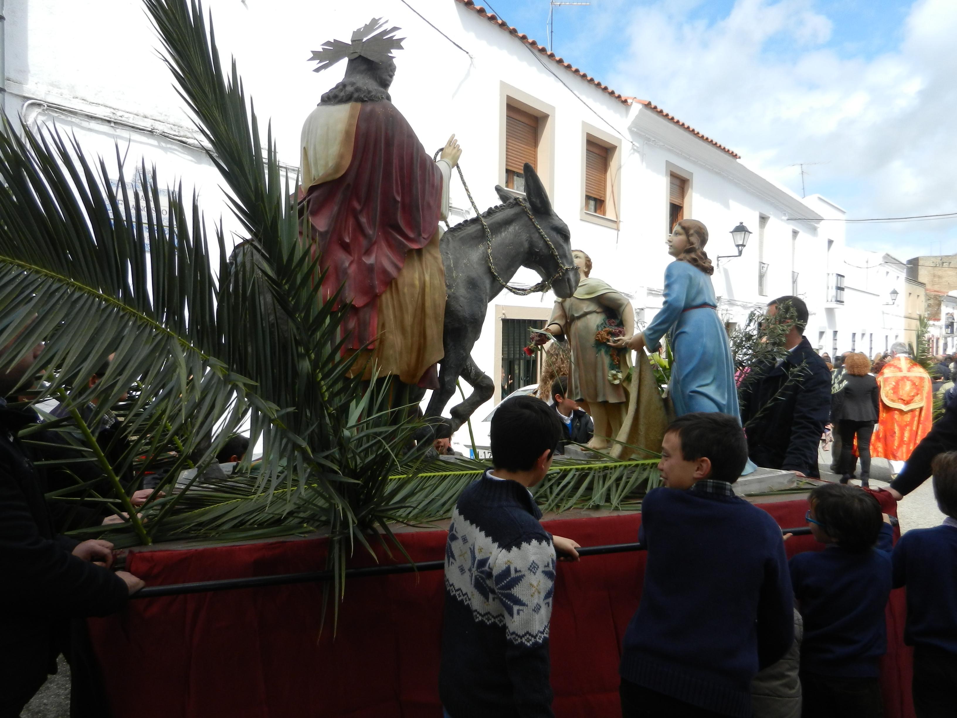 La Borriquita se traslada a Santa María del Castillo