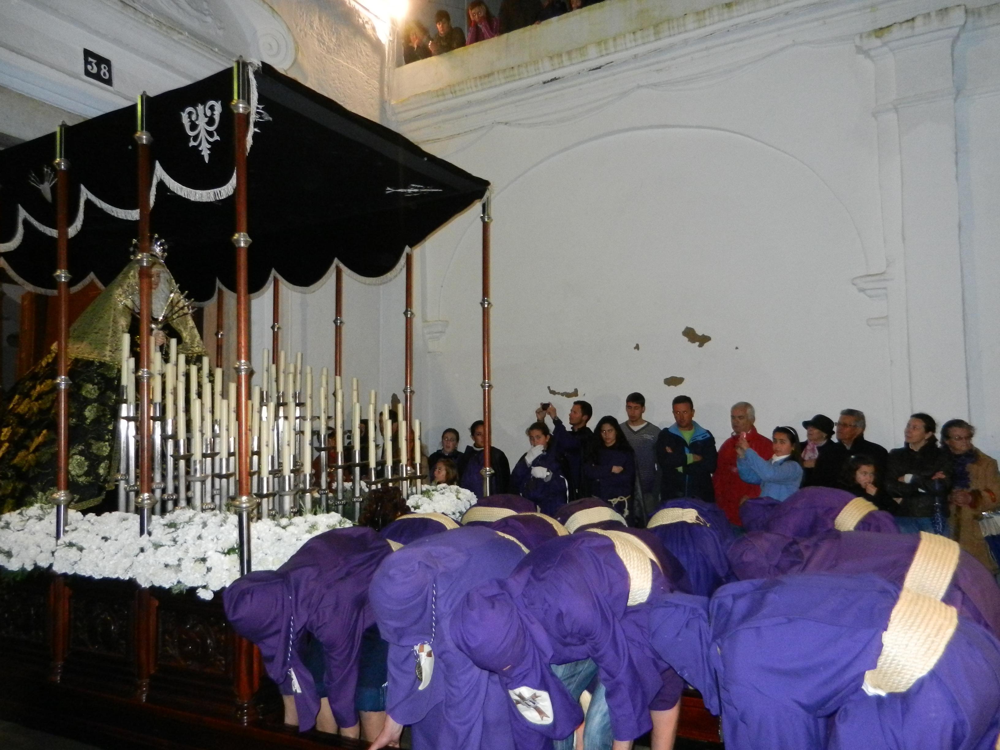La Santísima Virgen de los Dolores vuelve a la iglesia