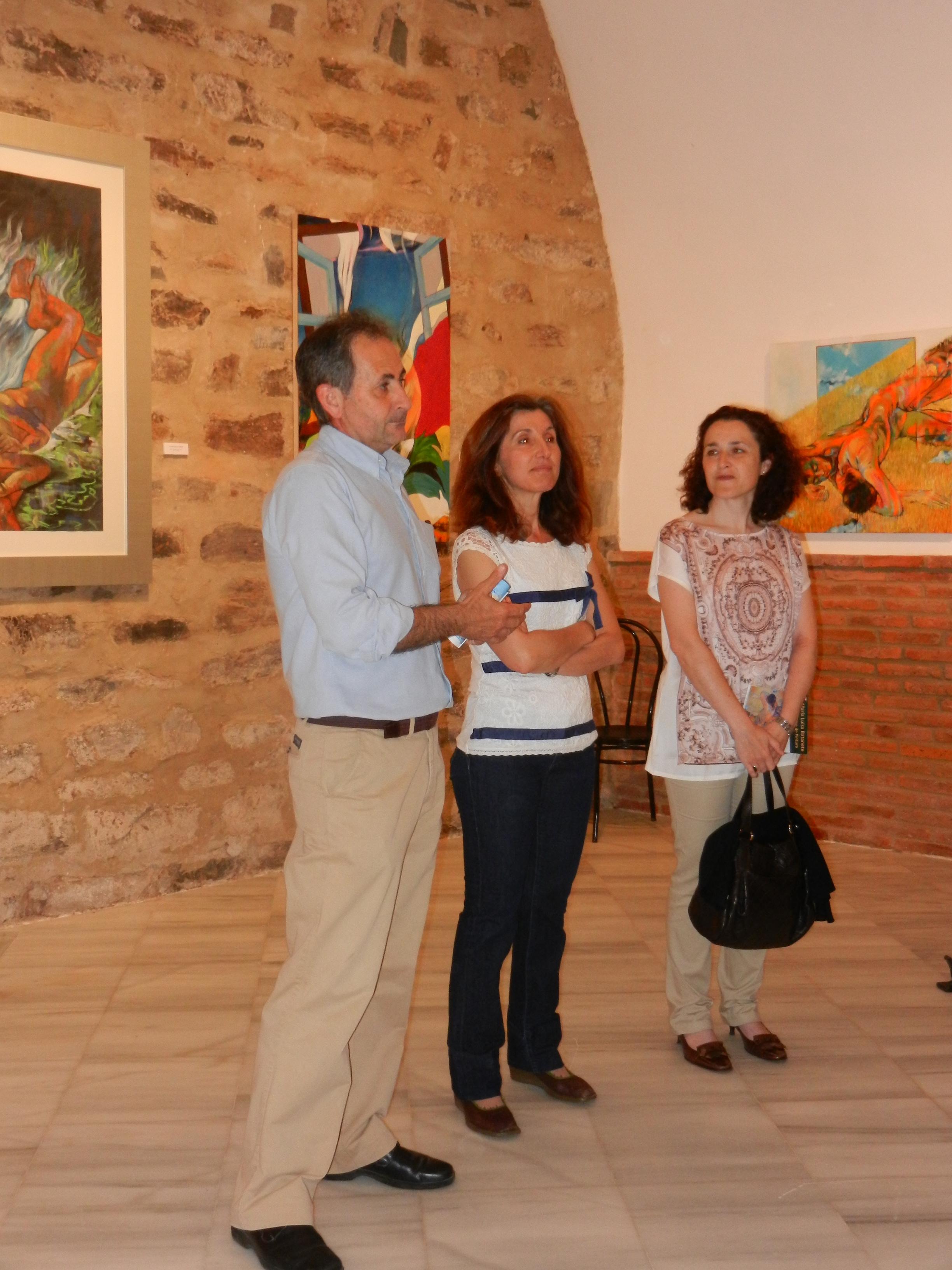 Inauguración de la exposición de María Luisa Batanete en el museo