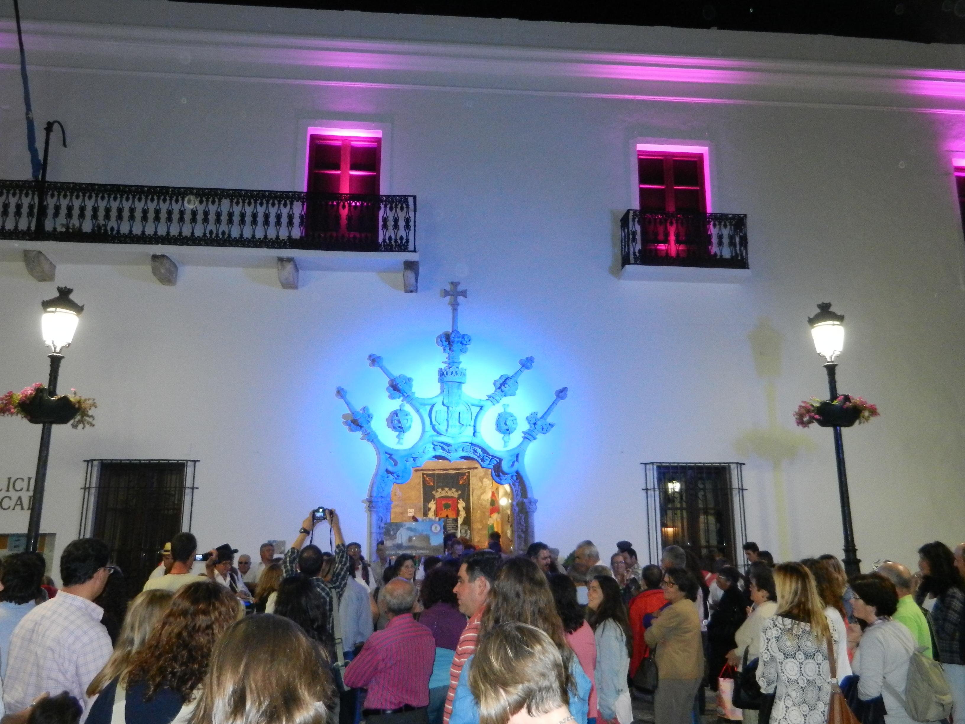 La plaza de la Constitución en Olivenza Despierta