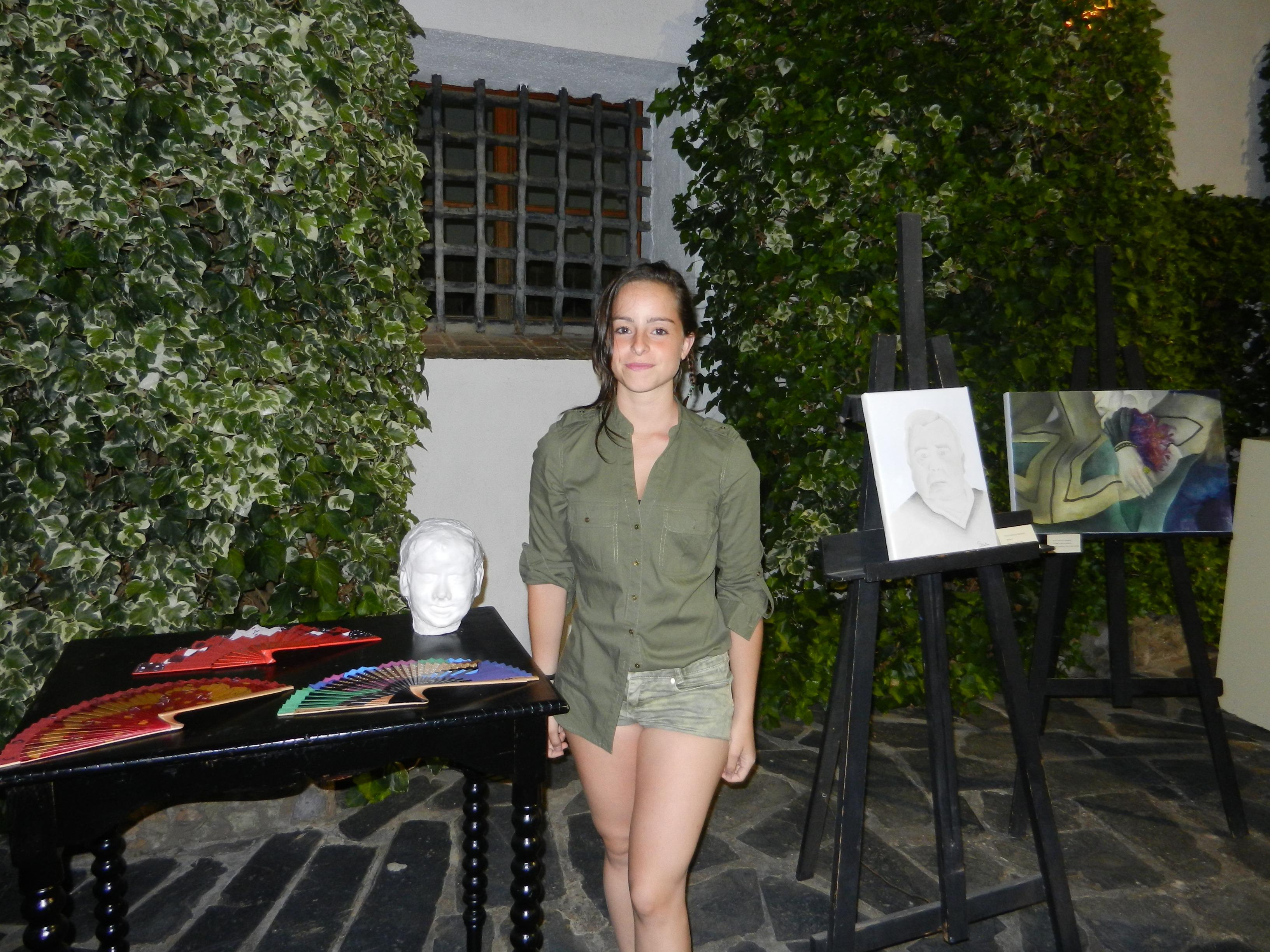 Artistas oliventinos con sus obras en Olivenza Despierta